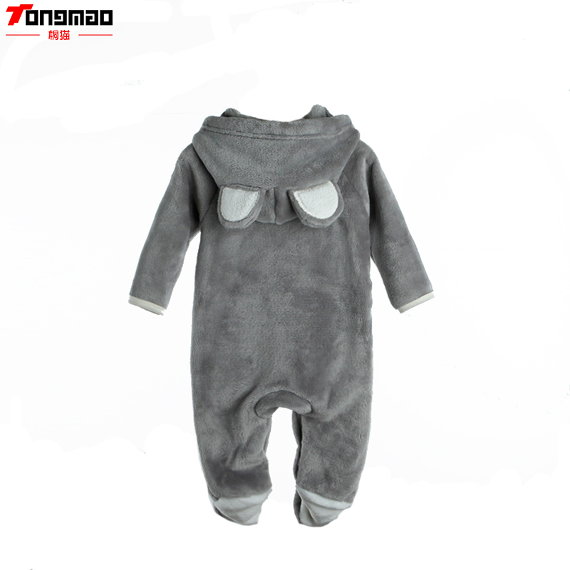 Burst Models Fall Andone - piece Winter  Three - Dimensional Animal Modeling Flannel Baby Romper Solid three dimensional modeling of flow and disinfection