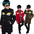 Kids boys and girls cotton jacket and long sections 2016 new winter influx of big virgin child thick jacket little monster coat