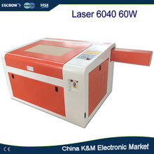 LY 60W Laser 6040 CO2 Engraving machine carving router ,Cutting Machine with rotary axis