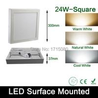 24W surface mounted LED Panel light AC 85 265V 4000K square led painel ceiling lights for bathroom illumination free shipping