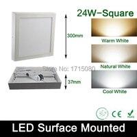 24W yüzeye monte led panel ışık AC 85-265V 4000K kare led painel tavan ışıkları banyo aydınlatma ücretsiz nakliye