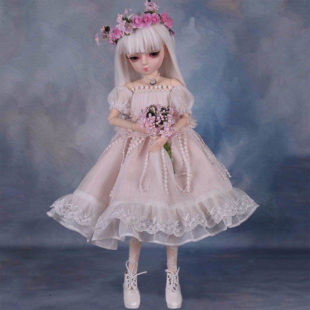 360 Degree Rotation Joint Dolls 45cm BJD Dolls with 100 Handmade Dress DIY Makeup Doll Change