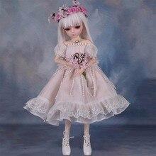 360 градусов вращение шарнир куклы 45 см BJD куклы с Платье ручной работы DIY Макияж глаз Changer волос Reborn кукольный подарок для девочек