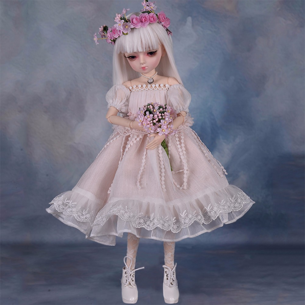 360 度回転ジョイントの人形 45 センチメートル BJD 人形と 100% 手作りドレス Diy の化粧人形変更目髪リボーン人形  グループ上の おもちゃ & ホビー からの 人形 の中 1