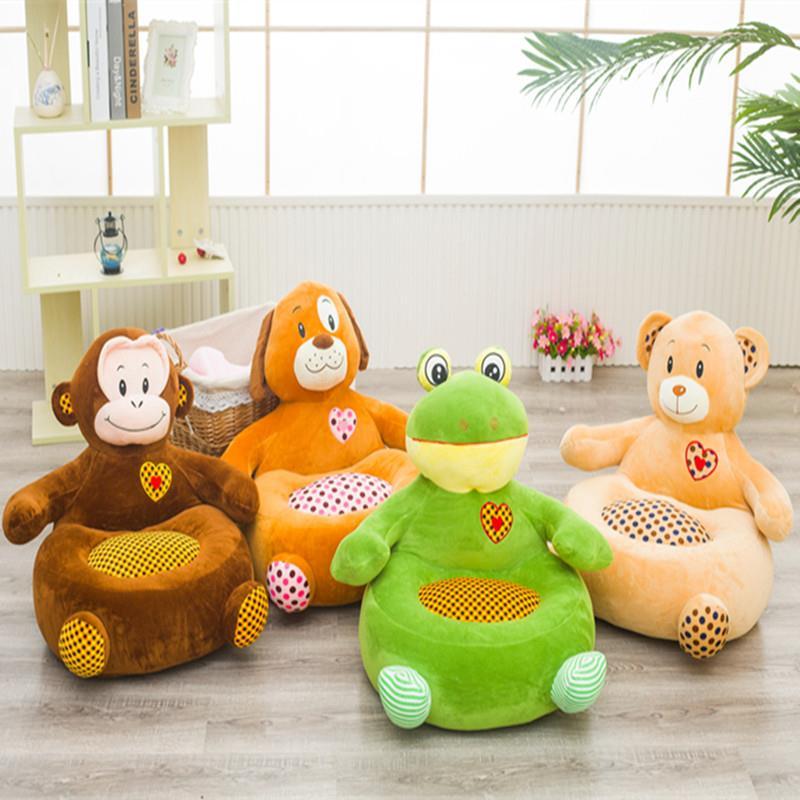 Doux coton rembourré bébé siège en peluche jouet mignon animaux jouets infantile enfants canapé alimentation chaise paresseux canapé infantile maternelle tabouret