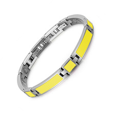 Fashion Yellow Gum Stainless Steel Magnet Bracelet and In Europe America