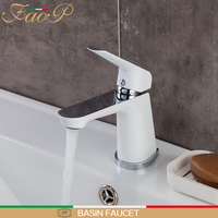 FAOP basin faucets white faucet for bathroom sink basin mixer tap mixer waterfall faucet basin mixer sink tap griferia tapware