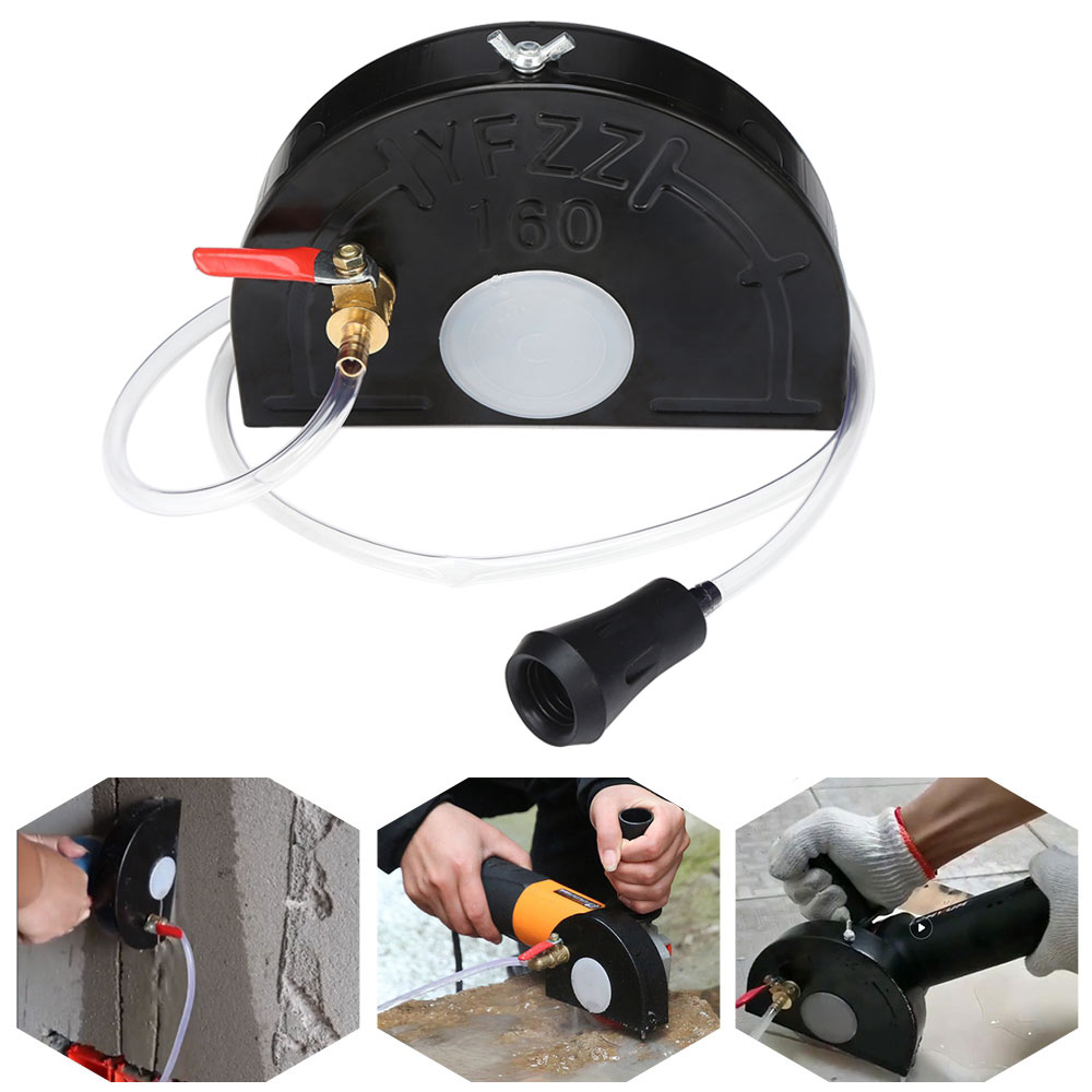 Dust-Free Cutting 100 / 150 Angle Grinder Shield With Pump Wheel Guard Protector Cover Water Slotting Guard Pump Cutting Machine