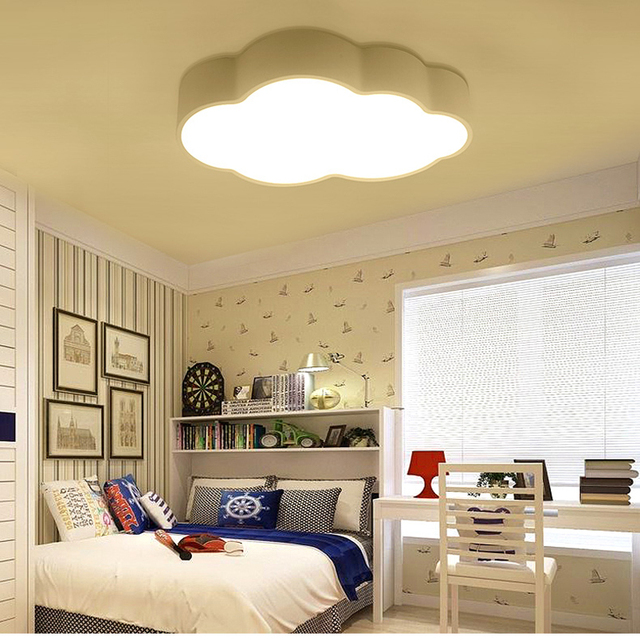 Carton Cloud Child Room Lights Baby Boy Princess Bedroom Lamp Study Living Led Ceiling Creative Dome