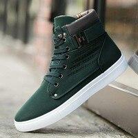 Для Мужчин's вулканическая обувь Для мужчин Демисезонный топ модные кроссовки на шнуровке Высокая Стиль одноцветное Цвета человек плоским ...