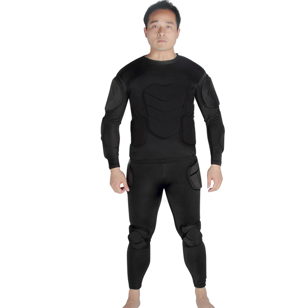 Survetement fotbal 2017 bărbați fotbal tricouri tânăr de protecție thicken unelte portar tricouri fotbal rugby cămașă burete căptușit