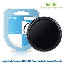 37 millimetri ND2 400 Densità Neutra Fader Variabile ND filter Regolabile per Panasonic LUMIX DMC GX9 GX80 GX85 GX800 GX850 con 12  32mm