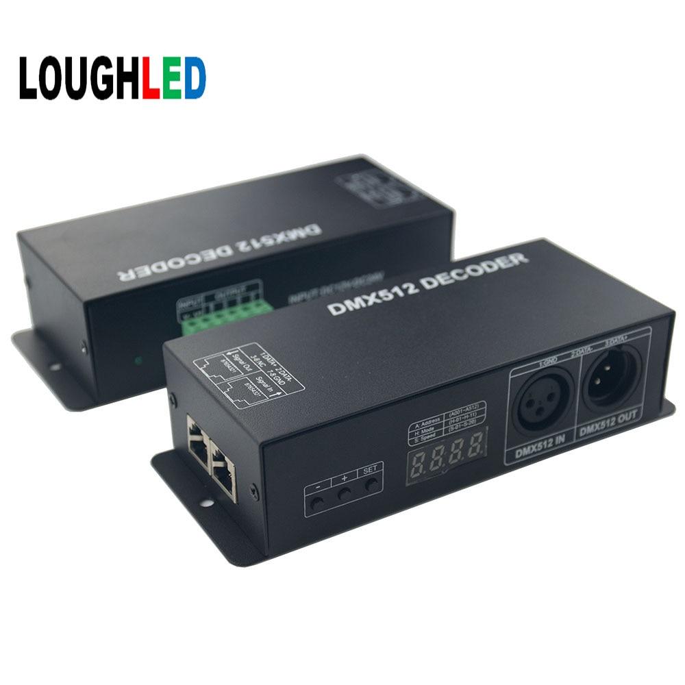 3CH RGB DMX512 decoder DC12V~24V 12A/24A RGB DMX512 Decoder with digital display DMX512 LED Controller adda ad7512hb 7530 dc12v 0 24a