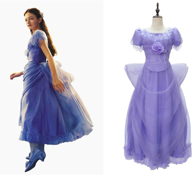 The Nutcracker And The Four Realms  Women Clara purple dress Princess Mackenzie Foy fancy dress costumes