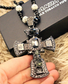 Fashion accessories all-match long necklace big cross design necklace female accessories