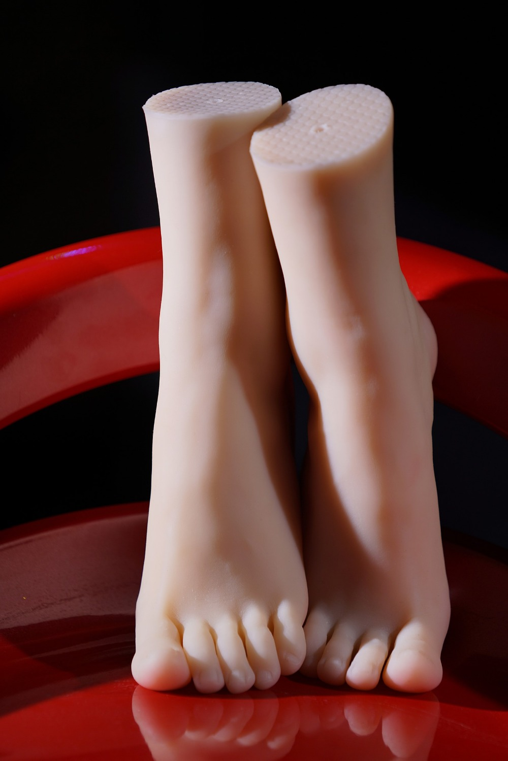22cm 38#Silicone Female Fake Foot,Inner-Bone Inside,Feet Model,Shoe Model silicone female fake foot feet model for men 36 yard shoe model foot fetish sex toys drop shipping