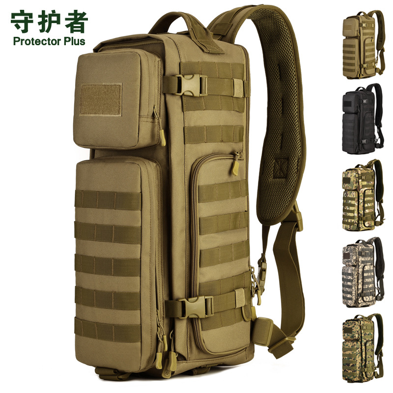 Military Fan Airborne one shoulder backpack Multi - Functional Large Shoulder Bag Mountaineering Bag Assault Pack A2673 airborne pollen allergy