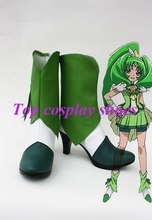 Freeshipping anime Smile Precure! Pretty Cure Nao Midorikawa Cure March Cosplay Shoes boots Custom made for Halloween Christmas(China)