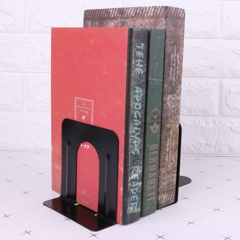Simple Style Metal Bookends Iron Support Holder Nonskid Desk Stands For Books books with style refinery29 style stalking