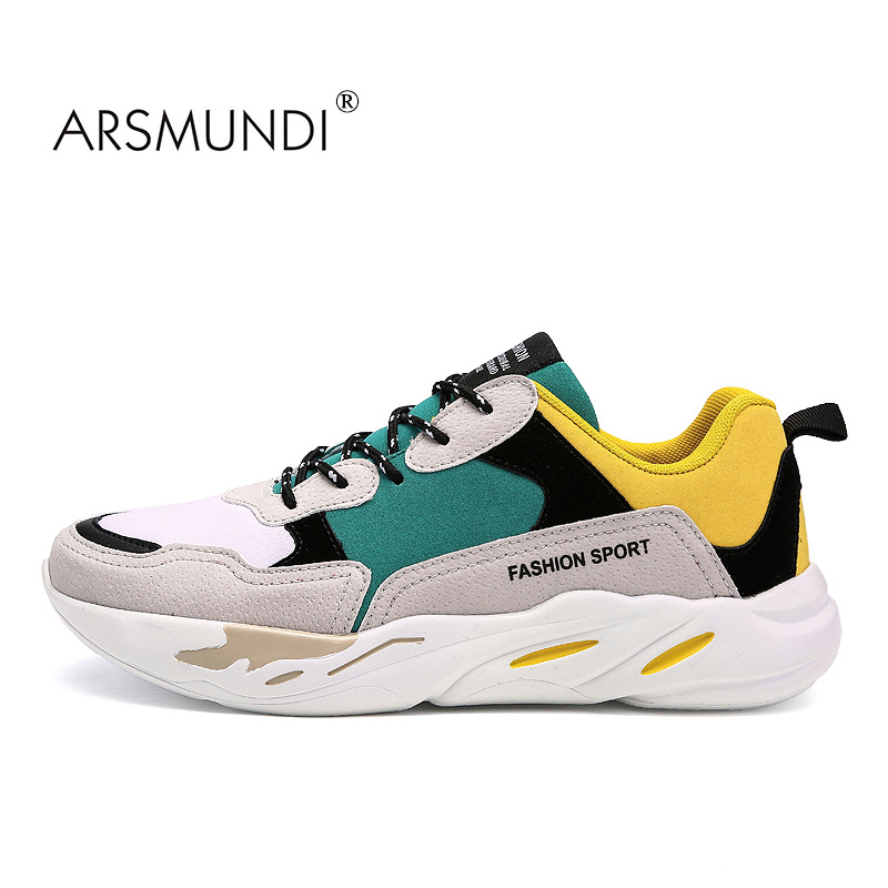 ARSMUNDI Men Running Shoes KEL-1810 New Arrival 2017 Winter Big Size 39-44 Massage Warm Men