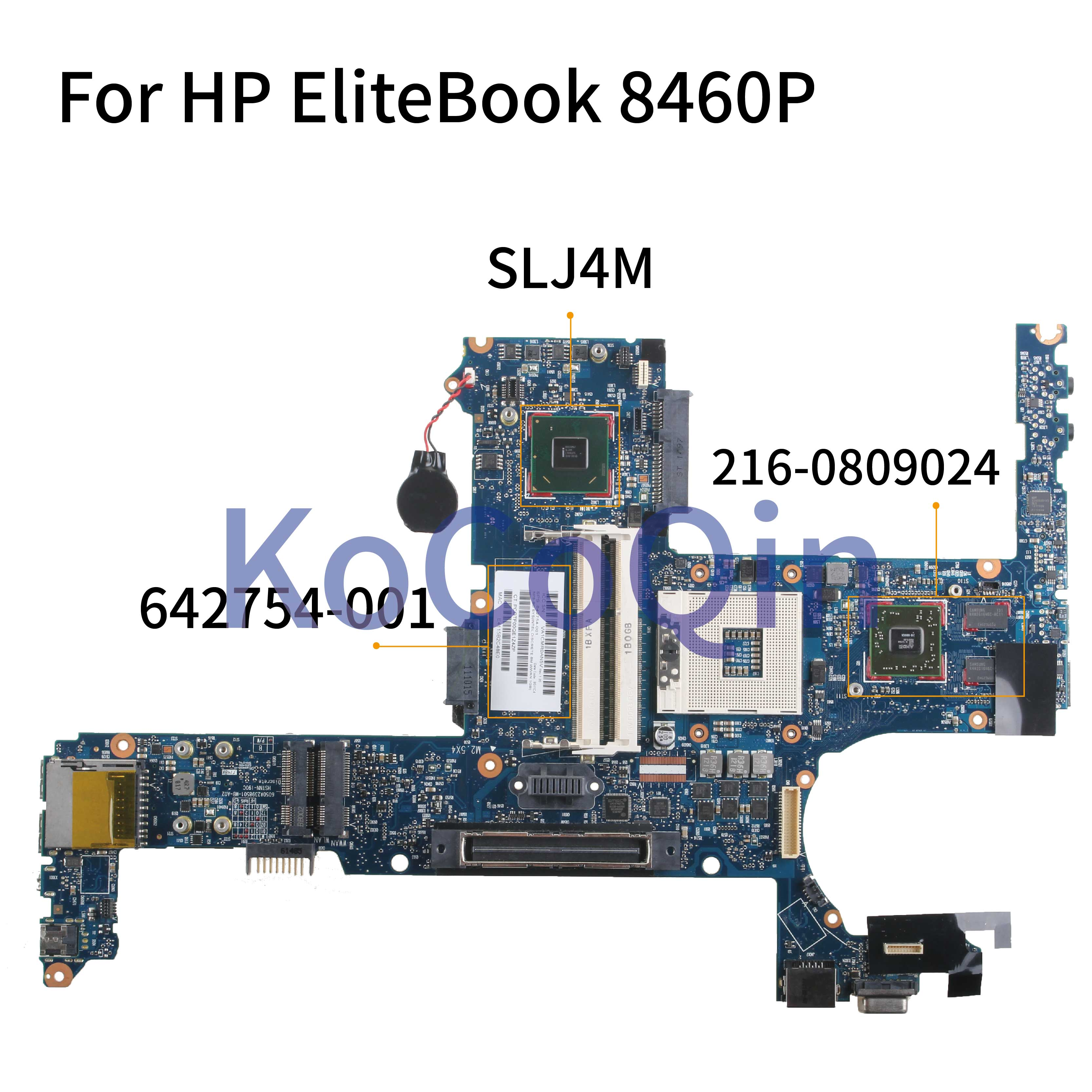 KoCoQin Laptop <font><b>motherboard</b></font> For <font><b>HP</b></font> EliteBook 6460B <font><b>8460P</b></font> Mainboard 642754-001 642754-501 6050A2398501 SLJ4M 216-0809024 image