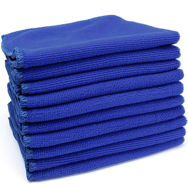 10Pcs 20x20cm Blue Cleaning Auto Car Detailing Soft Cloths Wash Towel Duster Kit