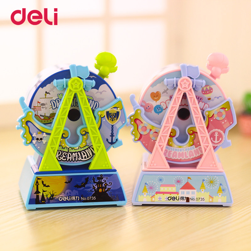 Deli Stationery Kawaii Mechanical pencil sharpener 2017 Cartoon Pencil sharpener cute Pencil sharpener office & school supplies deli stationery pencil sharpener mechanical cartoon kawaii pencil sharpener cute pencil sharpener office & school supplies