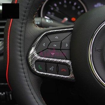 Внутренняя крышка рулевого колеса из углеродного волокна, накладка на панель, рамка для автомобиля, Стайлинг 2017 2018, аксессуары для Jeep Compass