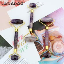 Amethyst Rollers Massager Newest Jade Natural Face Lift Rollers Skin Care Women