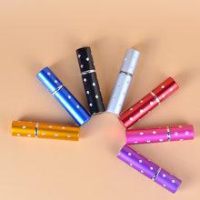 Flacon de voyage en aluminium pour Parfum, Flacon de voyage en verre pour Parfum, vide, Flacon à pompe pour cosmétiques, 5ml, 10ml, 100 pièces/lot