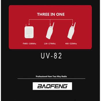Original 5w BaoFeng UV 82 Walkie Talkie Dual Band VHF UHF 136-174MHZ 400-520MHZ 8W Baofeng UV-82 Ham Radio Baofeng 82 UV82 UV-5R