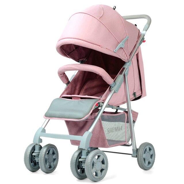 Новые Детские Коляски Высокого Пейзаж Алюминиевый Складной Противоударный Портативный Малолитражного Автомобиля Дышащий Коляски для Новорожденных