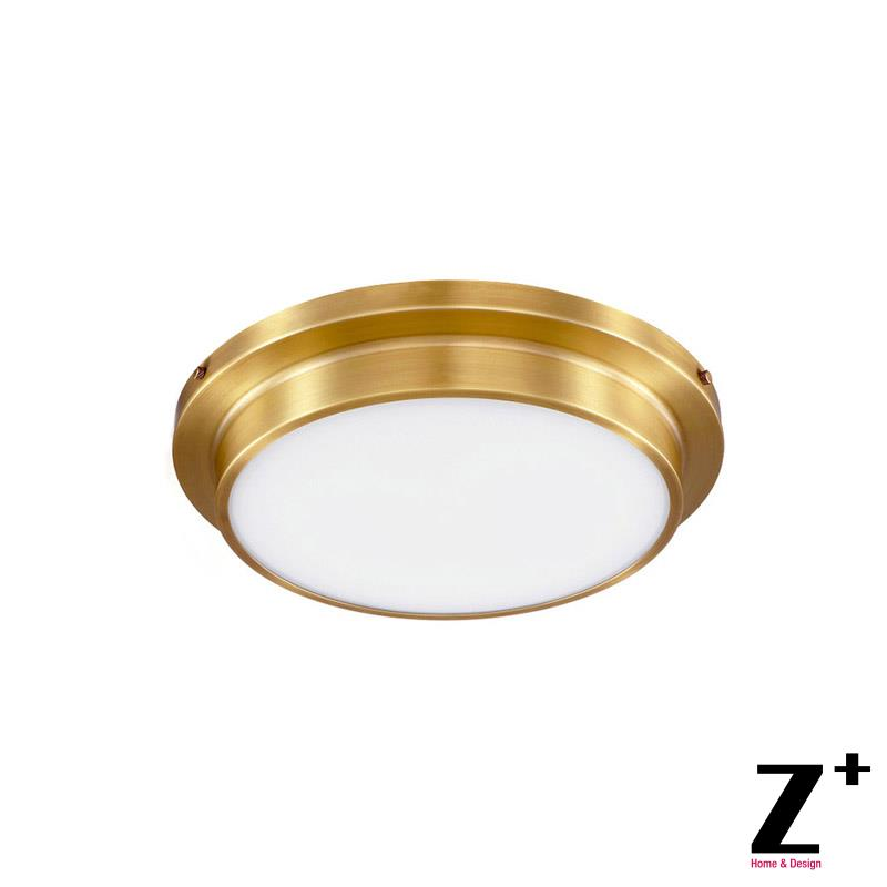Us 299 99 New Clical Vintage Flush Mount Copper Quality Br Led Lights American Style Ceiling Lamp In From