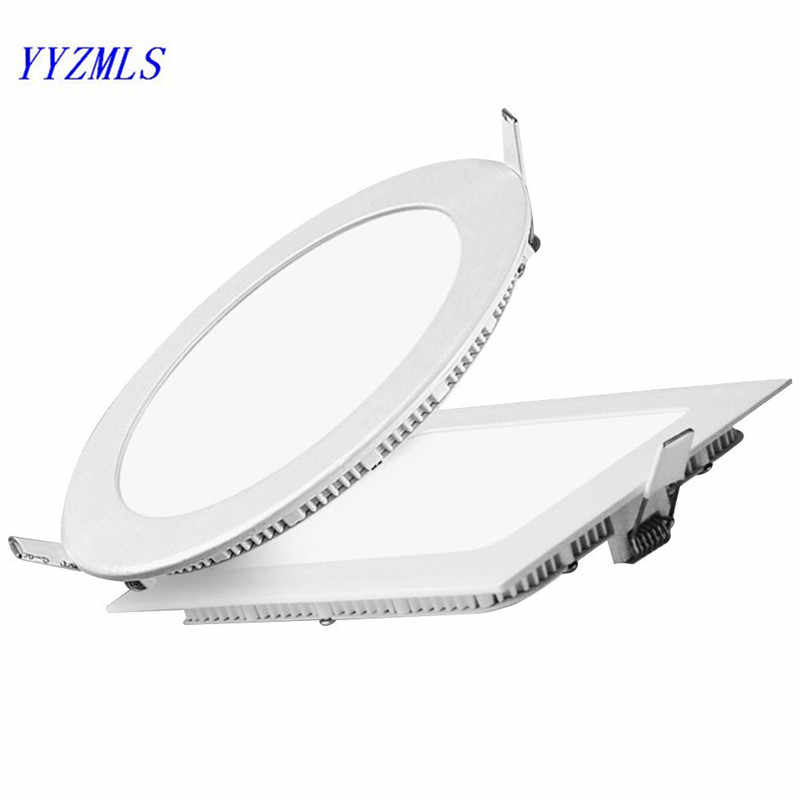 3w 6w 9w 12w 15w 18w Square led panel light ceiling downlight  Warm White cold white AC85-265V for kitchen bathroom lighting