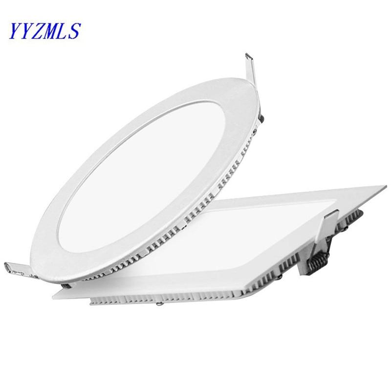 3w 6w 9w 12w 15w 18w Square Led Panel Light Ceiling Downlight  Warm White Cold White AC85-265V For Kitchen Bathroom Lighting