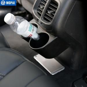 Image 3 - MOPAI ABS Auto Innen Hinten Sitz Armlehne Getränke Tasse Halter Dekoration Abdeckung Aufkleber für Jeep Cherokee 2014 Up Auto Styling