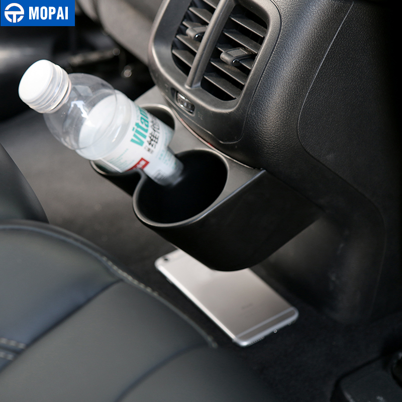 Image 3 - MOPAI ABS Car Interior Rear Seat Armrest Drinks Cup Holder Decoration Cover Stickers for Jeep Cherokee 2014 Up Car Styling-in Drinks Holders from Automobiles & Motorcycles