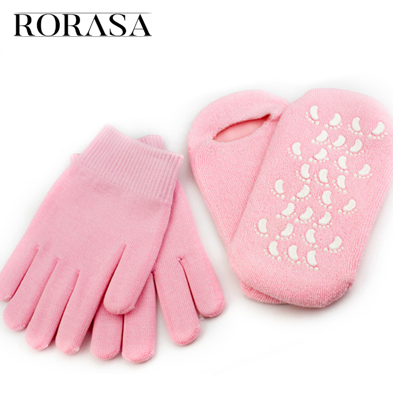 1 Pair SPA Gel Gloves OR Socks Reusable Moisturizer Whitening Exfoliating Smooth Feet Hand Mask Silicone Socks Foot Care Glove