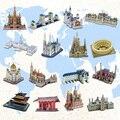 Горячая распродажа 3d трудные архитектура головоломки бумажная модель diy обучения и образования популярные игрушки для мальчиков и для детей и взрослых