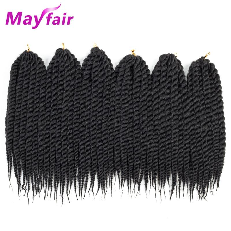 "MAYFAIR 6packs Twist Hair 12""18""22"" Havana Twist Crochet Braids 12 Havana Mambo Twist Synthetic Braiding Hair 12strands/Pack"