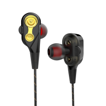 Double Unit Drive In Ear Earphone Bass Subwoofer HIFI Running Sport Headset Earbud