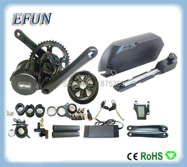 DIY Fat bike motor kits 8Fun/Bafang mid drive motor kits 48V 500W with 48V 17Ah tiger shark down tube battery for fat tire bike fun kits 17 фокусов с монетами и купюрами