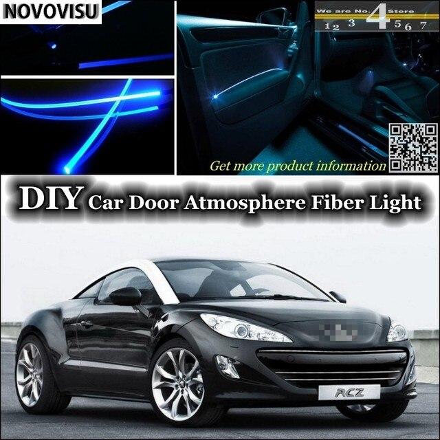 NOVOVISU For Peugeot RCZ interior Ambient Light Atmosphere Fiber ...