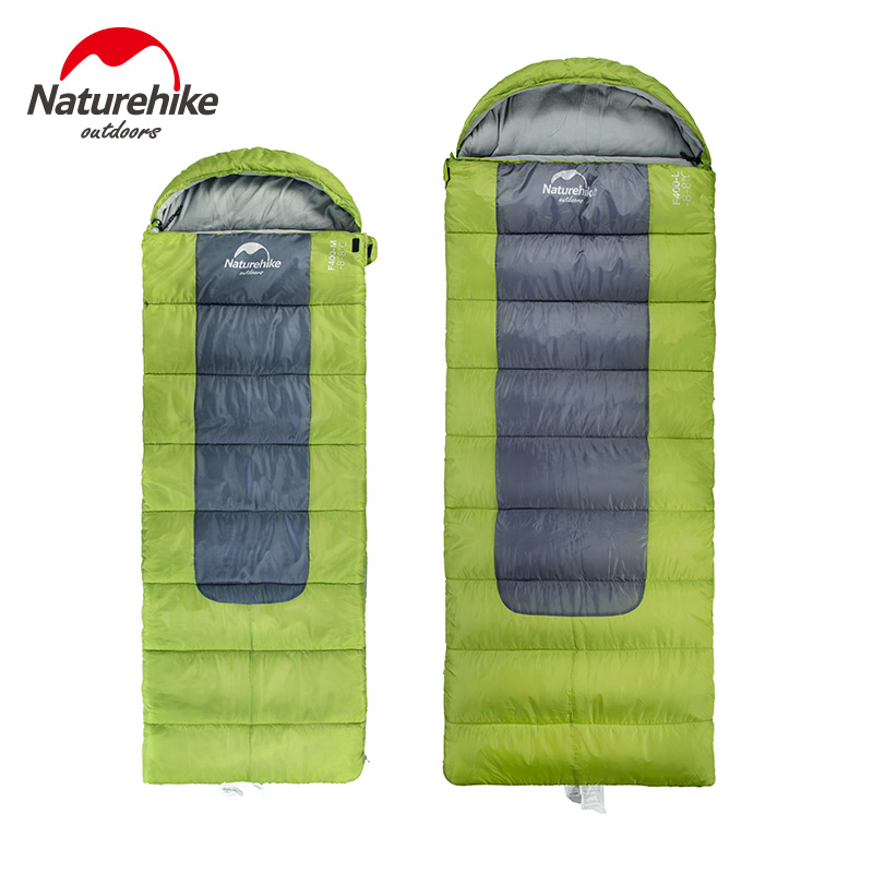 Naturehike NH00F400-D Ultralight Large Portable Envelope Cotton Sleeping Bag Can Be Zippered Together portable pp1440 cd zippered bag black page 6