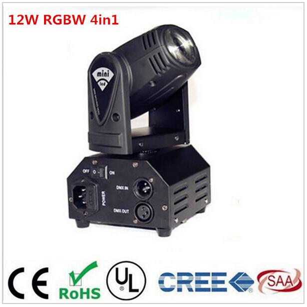 CREE 12W RGBW 4in1 moving head DMX512 light beam LED spot Lighting Show Disco DJ Laser Light laser head owx8060 owy8075 onp8170