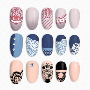 Image 5 - BORN PRETTY Lace Series Nail Stamping Plate Flower Yarn Pattern Rectangle Template Nail Art Stamp Plate