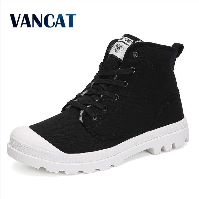 VANCAT New Couple Unisex Super Warm Man Boot Men Winter Snow Boots Keep Warm Boots Plush Ankle Work Shoes Men Snow Boots 36-47
