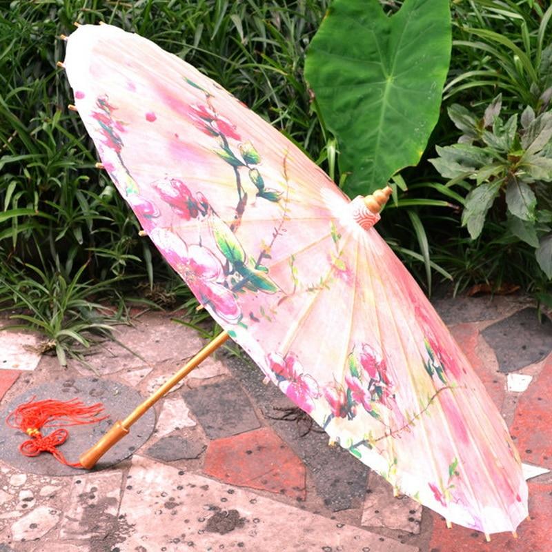 Rosa farbe serie pfirsich blume öl papier regenschirm frühling - Haushaltswaren - Foto 3