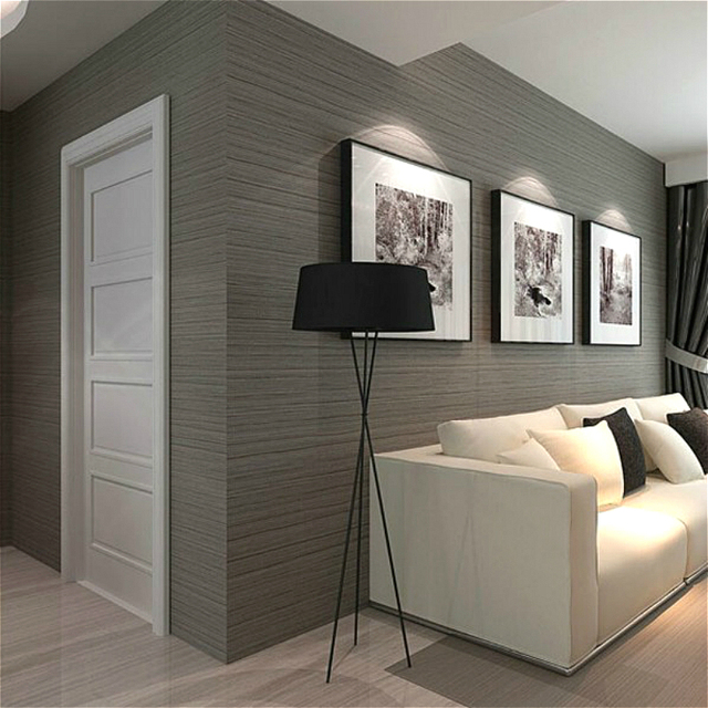 Dark Grey Gray Solid Color Plain Stripe Wallpaper For Wall Vertical