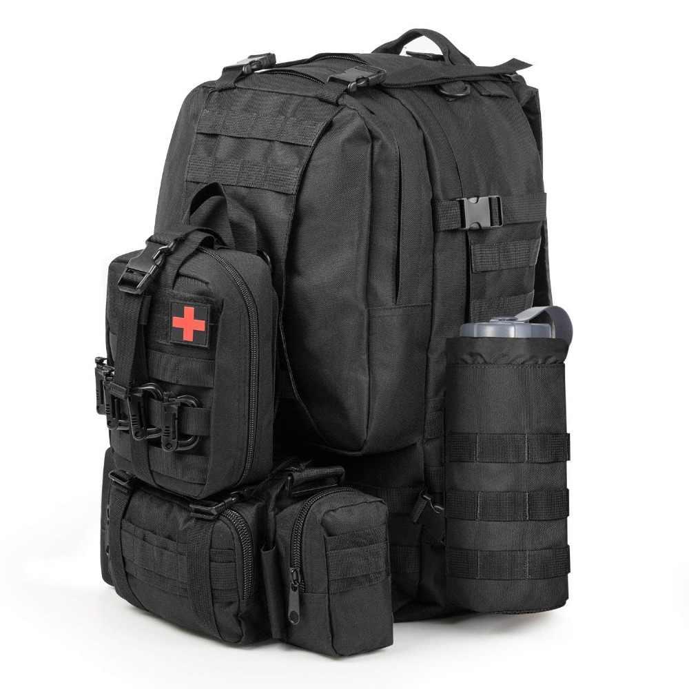 Outdoor Water apteczki Travel Oxford tkanina taktyczna torba na pas Camping torba wspinaczkowa czarna walizka awaryjna